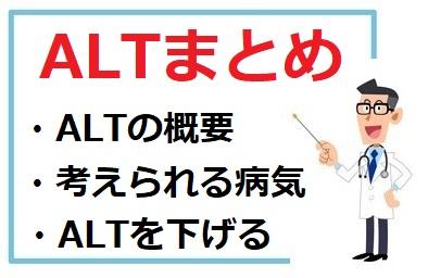 ALTの概要、考えられる病気、ALTを下げる