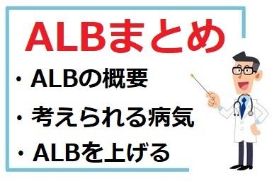 ALBの概要、考えられる病気、ALBを上げる方法まとめ